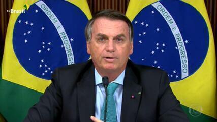 Bolsonaro promete reduzir emissões e pede remuneração por serviços ambientais prestados pelos biomas brasileiros