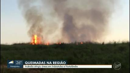 Veja vídeos dos incêndios em Hortolândia e Indaiatuba durante o final de semana