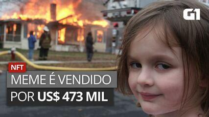 VÍDEO: Meme de garota em frente a um incêndio é vendido por US$ 473 mil