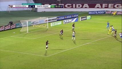 Melhores momentos de Ferroviária 2 x 2 Santo André pela 7ª rodada do Campeonato Paulista