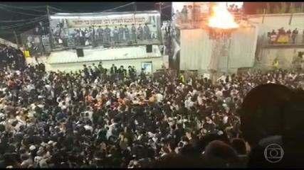 Tumulto em festival religioso em Israel deixa dezenas de mortos
