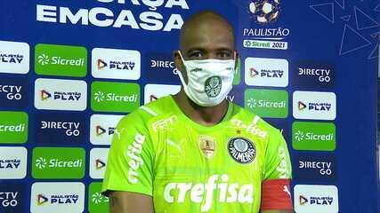 """Jailson: """"39 anos e corpinho de 35. Jogador que não estiver motivado para jogar no Palmeiras, pode pegar as coisas e ir embora"""""""