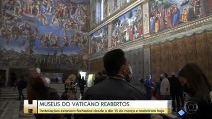 Museus do Vaticano reabrem depois de semanas fechados por medidas de contenção da pandemia