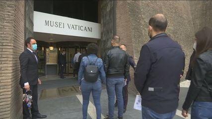 Na Europa, museus reabrem no Vaticano e na França