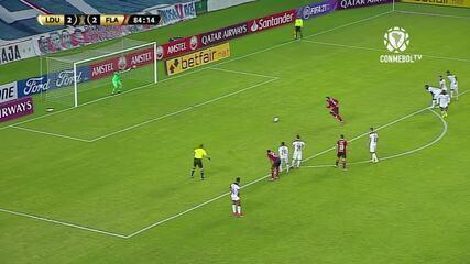 Os gols de LDU 2 x 3 Flamengo, pela 3ª rodada da Libertadores
