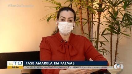 Prefeita de Palmas fala sobre as novas flexibilização; cidade agora está na fase amarela
