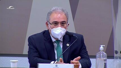 VÍDEO: 'É necessário reforçar de forma reiterada, por exemplo, o uso das máscaras', diz Queiroga