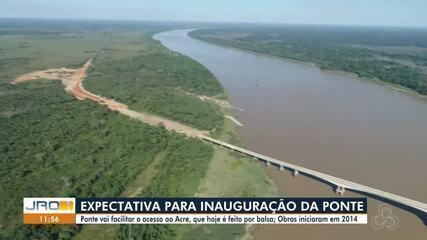 Ponte sobre Rio Madeira que liga RO ao AC deve ser inaugurada amanhã