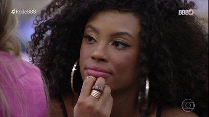 Lumena fala com Carla Diaz e se desculpa por desentendimentos no BBB21