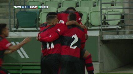 Melhores momentos de Palmeiras 1 x 2 Flamengo pela 1ª rodada do Campeonato Brasileiro Sub-17