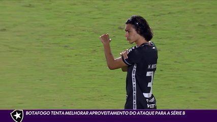 Botafogo busca melhorar aproveitamento do ataque para a disputa da Série B