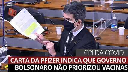 CPI da Covid: carta da Pfizer indica que governo Bolsonaro não priorizou vacinas