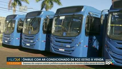 Ônibus com ar-condicionado de Foz do Iguaçu estão à venda