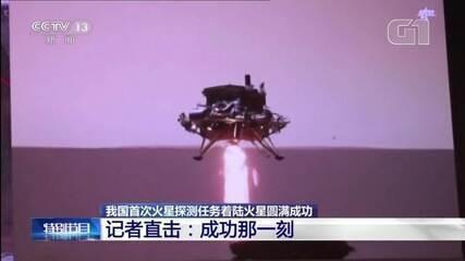 VÍDEO: Robô chinês pousa em Marte para iniciar investigações no planeta
