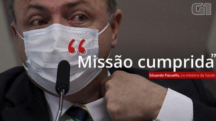 VÍDEO: 'Missão cumprida', afirma Pazuello sobre demissão