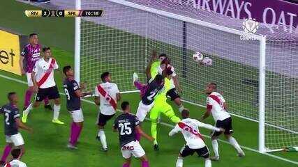 Melhores momentos de River Plate 2 x 1 Santa Fe pela Libertadores