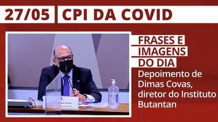 CPI da Covid: depoimento do diretor do Instituto Butantan, Dimas Covas