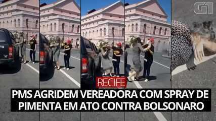 PMs agridem vereadora do Recife com spray de pimenta em protesto contra Bolsonaro