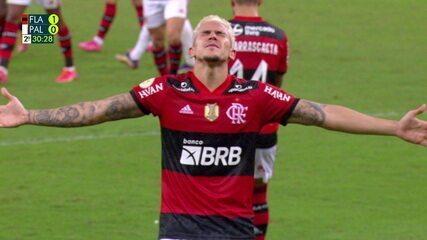 O gol de Flamengo 1 x 0 Palmeiras pela 1º rodada do Brasileirão 2021