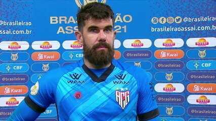 """Fernando Miguel comemora atuação e projeta confronto pela Copa do Brasil: """"Cada partida é uma história"""""""