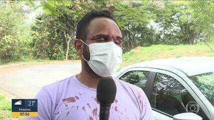 Motorista de aplicativo é agredido por policial