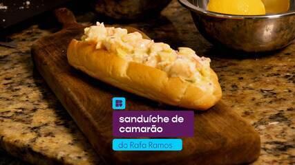 Rafa Ramos ensina uma receita de sanduíche de camarão