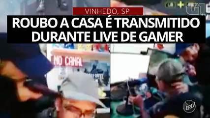 Roubo a casa em Vinhedo é transmitido durante 'live' de gamer; veja o vídeo