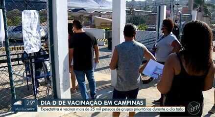 Campinas realiza Dia D nesta sexta-feira e pretende vacinar 25,6 mil contra Covid
