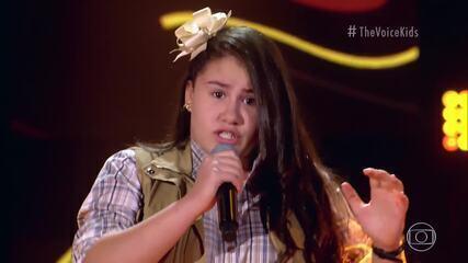 Raissa Diniz canta 'Tijolinho Por Tijolinho' no 'The Voice Kids'