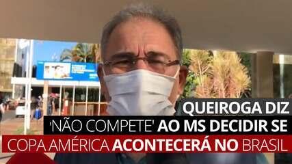 VÍDEO: Queiroga diz que 'não compete' ao Ministério da Saúde decidir se Copa América acontecerá no Brasil