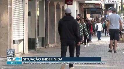 Barbacena não adere a restrições do Minas Consciente