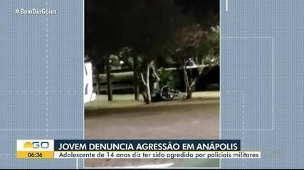 Adolescente diz ter sido agredido por policiais militares, em Anápolis