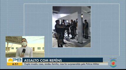 Polícia Militar prende dois homens suspeitos de invadirem casa e fazerem reféns