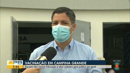 Confira o cronograma de vacinação em Campia Grande