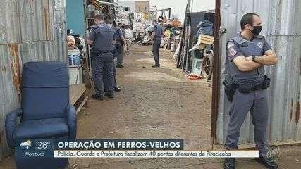 Polícia, Guarda e Prefeitura fiscalizam 40 ferros velhos em Piracicaba