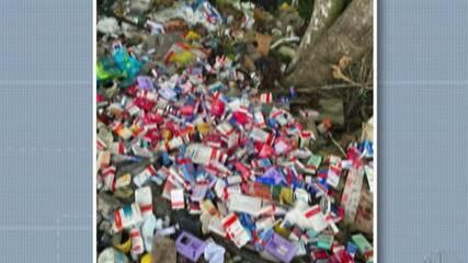 Vereadora de Biritiba Mirim flagra caixas de medicamentos jogadas em estrada