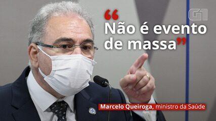 VÍDEO: 'Não é evento de massa', diz Queiroga sobre Copa América