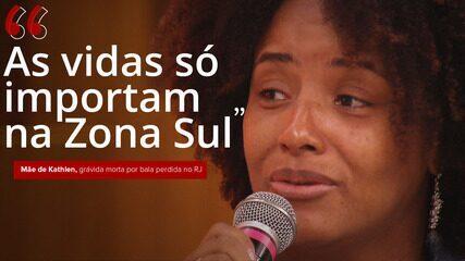 VÍDEO: 'As vidas só importam na Zona Sul', diz mãe da grávida morta no Rio