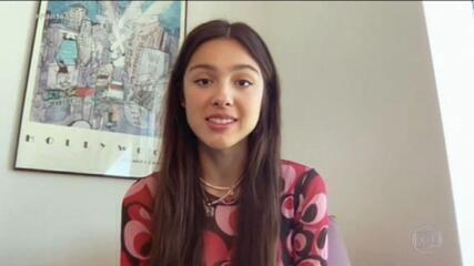 Olivia Rodrigo dá entrevista exclusiva ao Fantástico e diz: 'Meus fãs brasileiros são incríveis'