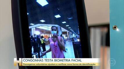 Aeroporto de Congonhas testa biometria facial de passageiros