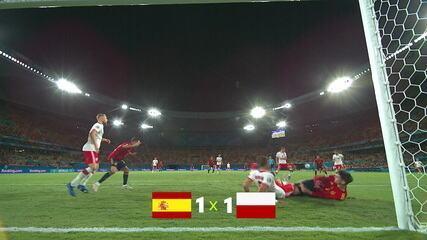 Espanha empate com Polônia e volta a decepcionar torcedores na Eurocopa