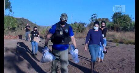 Força-tarefa que busca por Lázaro Barbosa encontra lençol em Águas Lindas de Goiás
