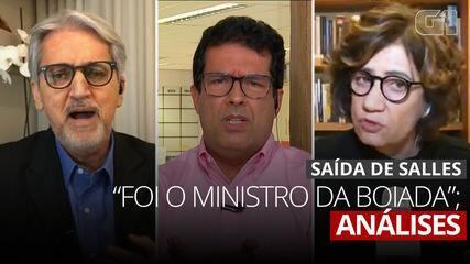 VÍDEO: Comentaristas da GloboNews analisam saída de Ricardo Salles do governo
