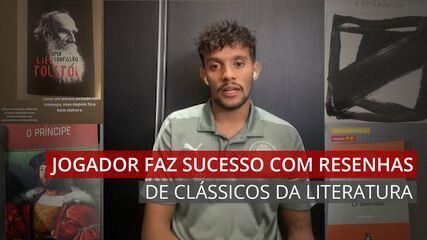 VÍDEO: Jogador do Palmeiras faz sucesso ao postar comentários sobre os livros que lê