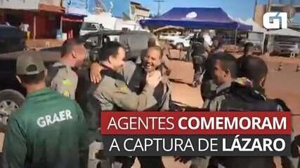 VÍDEO: Agentes de segurança comemoram captura de Lázaro Barbosa