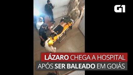 Lázaro Barbosa é levado a hospital após ser baleado em Goiás
