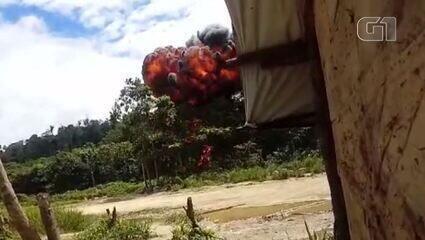 Veja imagens da ação da PF para retirar garimpeiros da Terra Indígena Yanomami
