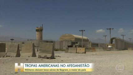 Las tropas estadounidenses y los aliados occidentales abandonan Baghram, la base aérea más grande de Afganistán