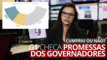 Promessas dos políticos: G1 monitora 1.157 compromissos feitos por governadores em 2018