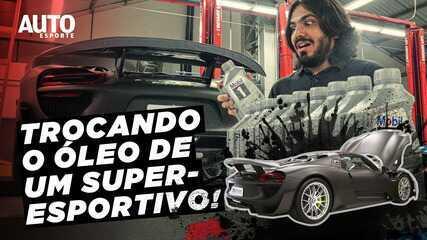 Como é a troca de óleo do Porsche 918, a mais exclusiva do Brasil?